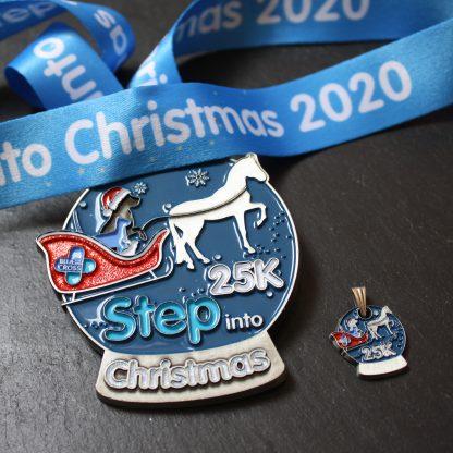 Blue Cross Step Into Christmas - Virtual Race Medal